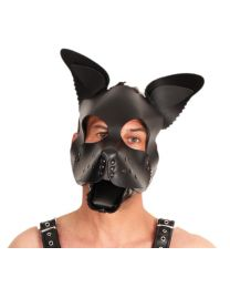 High Quality Leather Puppy Mask - Black Ears & Tongue