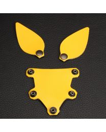 Leather Puppy Set of Ears and Tongue - Yellow