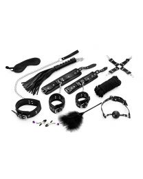 Complete 11-Piece Bondage Set for Beginners II - Black