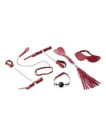 9-piece Beginner's Bondage Set - Red
