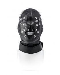 Leather mask, closed - M/L